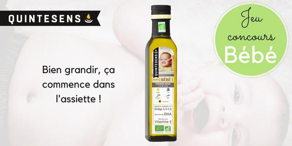 jeu concours huile bébé quintesens