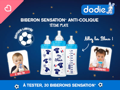 test biberon foot dodie