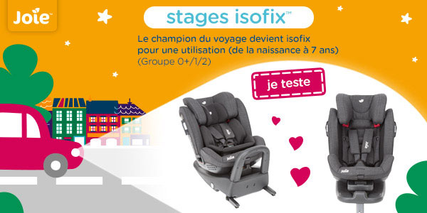 baby test siege auto stages isofix joie