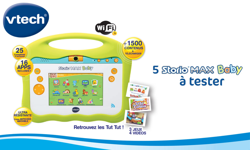 baby test tablette storio max baby Vtech