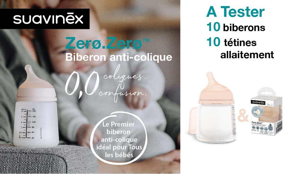 baby test tétines biberon zero zero