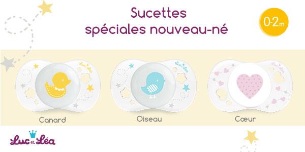 baby test sucettes nouveau-né Luc et Léa