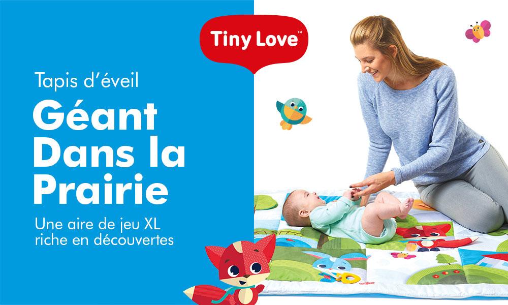 Baby Test Tapis Géant Dans La Prairie Tiny Love Consobaby
