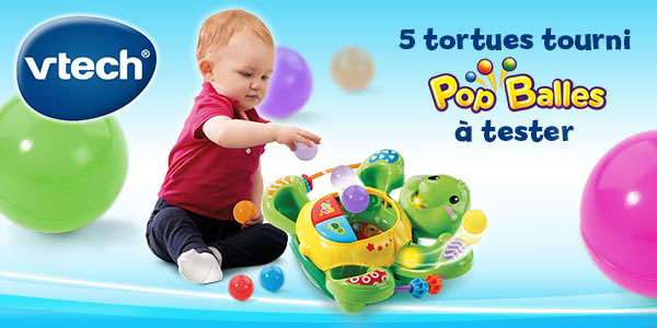 baby test tortue tourni pop balles vtech