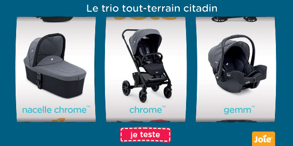 baby test trio chrome joie