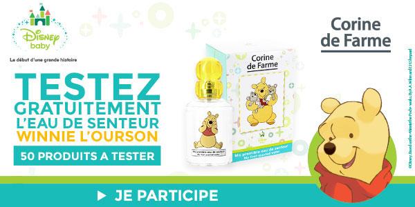 baby test Eau de senteur Winnie Corine de Farme
