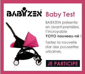test YOYO nouveau né