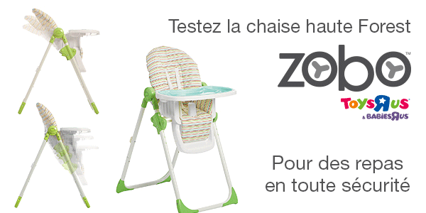 baby test chaise haute Forest Zobo BAbies R Us