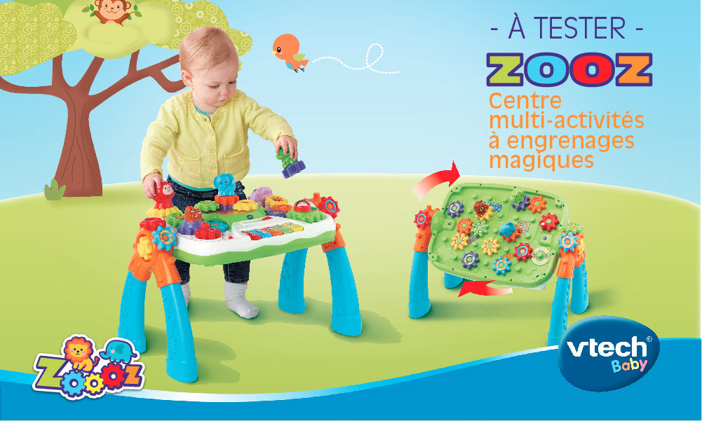 baby test centre a engrenages zooz vtech