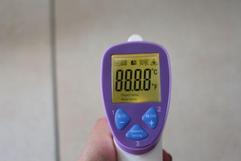 test thermometre avantek jaune